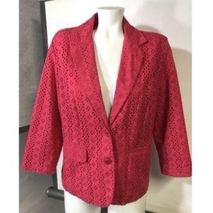 Oscar De La Renta Vintage Blazer Hot Pink Career